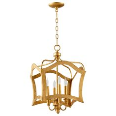 Milan Gold Leaf Small Pendant 20 x 22 $688 Layla Grace