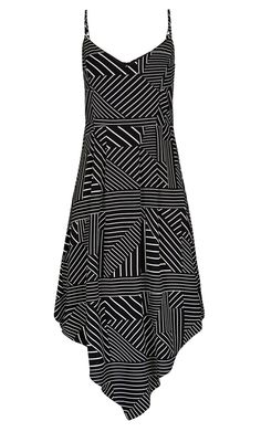 Plus Size Mono Stripe Dress - City Chic