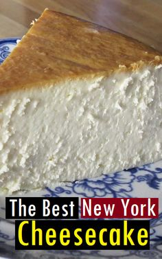 The Best New York Cheesecake Recipe - Cake Recipes - Recetas Cheesecake Factory, New York Cheesecake Rezept, New York Style Cheesecake, Best Cheesecake, Homemade Cheesecake, Easy Cheesecake Recipes, Dessert Recipes, No Crust Cheesecake, Original Cheesecake Recipe