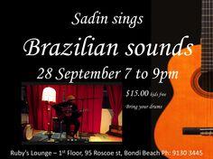 Family night of Brazilian sounds $10 - 28 September 7-9pm