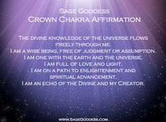 We set an intention each day to honor the 7 chakras with their own dedicated days of meditations and affirmations. Today we are celebrating the seventh and final chakra, the Crown, for connecting our physical beings to the spiritual universe. Chakra Healing, Chakra Meditation, Self Healing, Healing Meditation, Meditation Music, Self Treatment, Chakra Balancing, Reiki Courses, Spirituality
