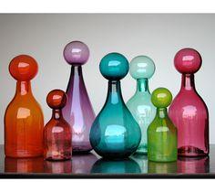 hand-blown glassware by Elizabeth Lyons