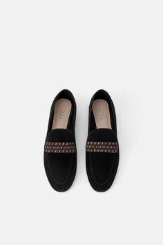 M/&S Ladies Block Heel Animal Print Loafers Work Winter Smart Shoes Size 6.5