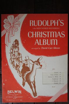 Rudolph's Christmas Album  Belwin Piano Music Book  1962