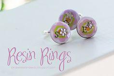 resin rings - cute yw activity idea