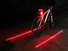 Stop getting hit by cars and trucks while you foolishly decide to ride a bike on poorly lit roads, now you can create your own visible bike lane with this clever bike lane laser light that easily attaches to any bicycle and projects a safe perimeter for drivers to see.The 2 red laser beam bicycle...