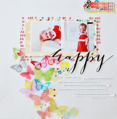Happy by dearlizzy at @Studio_Calico - 12x12 layout Elizabeth Kartchner #SCofficehours