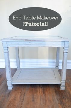 Here is a tutorial of an end table that I recently did a makeover on, with chalk paint. View the slideshow below to read more