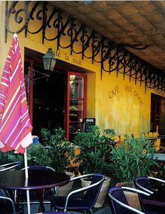 Arles...Van Gogh's yellow cafe