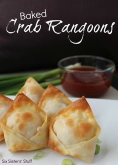 Rangoon de caranguejo assado | 31 versões assadas e bem mais saudáveis de comidas fritas