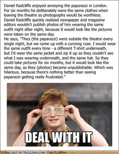 Art of Trolling: Harry Potter and the Useless Photograph