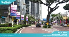 SkyDrive- Digital LED Lightbox Advertising in Brickfields, Kuala Lumpur, Malaysia. #OOH #OutdoorAdvertising #LEDLightBox #OutdoorMedia  http://skybmedia.com/