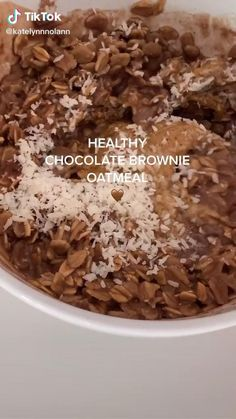 Good Healthy Recipes, Whole Food Recipes, Snack Recipes, Healthy Food, Oatmeal Recipes, Healthy Chocolate, Easy Snacks, Love Food, Food To Make
