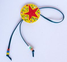 Make a quick, easy, personalized bolo tie for the Calgary Stampede! A bolo tie is perfect as part of a cowgirl or cowboy costume and great for everyday dress up. Winter Crafts For Toddlers, Toddler Crafts, Preschool Crafts, Diy Crafts For Kids, Daycare Crafts, Rodeo Crafts, Cowboy Crafts, Western Crafts, Wild West Crafts
