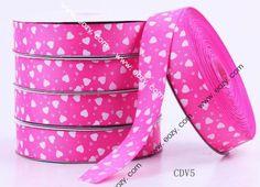 50yard 25mm Rose Heart Polyester Fiber Craft Ribbon Cord