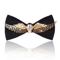 Men bow tie, metal skull, Marriage wedding, butterfly tie, handmade, suit tie