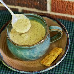 Roasted Broccoli Cheddar Soup  #SheCookeHeCleans
