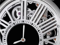"Cartier Rotonde De Cartier Mysterious Hour Skeleton Watch - by Michael Penate - This piece is powered by the 9983MC and features the ""mysterious hour"". See it now at: aBlogtoWatch.com - ""As the watch world gears up for the 2017 Salon International de la Haute Horlogerie (SIHH), Cartier has quietly begun to announce their plans for the luxury timepiece exhibition held in Geneva every year. While they certainly aren't strangers to the fine watchmaking arena..."""