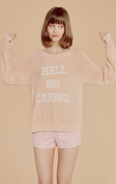 Wildfox Couture No Cardio Baggy Beach Jumper