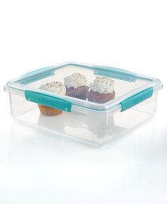 Martha Stewart Collection 110 Oz. Storage Container With 1 Cup Measuring  Cup, Created For Macyu0027s | Storage Containers, Storage And Pantry