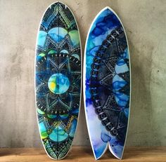 Surfboard Inlay by Felicity Palmateer
