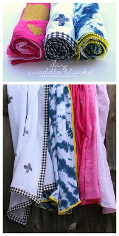fun ways to make your own swaddle blankets...perfect for baby