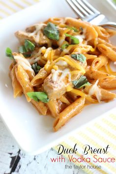 Duck Breast, Duck Recipes, Vodka Sauce, Vodka Sauce Recipe