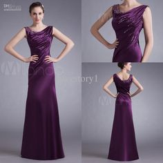 Wholesale Bride Dress - Buy New Arrival Grape Sequins Satin Long Mother of the Bride Dresses Formal Evening Dress Prom Gown B-112, $113.64 | DHgate