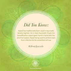 Did you know that Kajaal has been used in Ayurvedic beauty rituals for centuries!