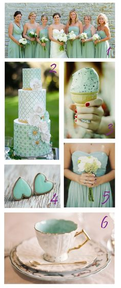 COLOUR THEME - mint wedding! ♥ the peppermint choc chip ice cream, would be great for a summer or spring wedding.- 2013 Wedding Trend Watch | John M.S. Lecky UBC Boathouse. Richmond, BC www.ubcboathouse.com
