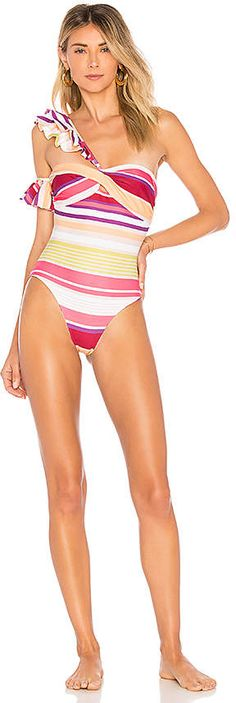 e6b54d6d1b03 Shop for Tularosa Sofia One Piece in Crimson Stripe at REVOLVE. Mrs. Lilien  · Swimsuits