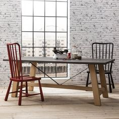 Hudson Living Chilson Trestle Dining Table Large 8 Seater