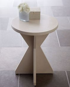 "home decor & interior design - ShopStyle: Neiman Marcus York Street Studio ""Jaryn"" Leather X-Base Side Table"