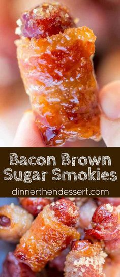 Bacon Brown Sugar Smokies are the quintessential party food that everyone fights. - Bacon Brown Sugar Smokies are the quintessential party food that everyone fights over even though t - Finger Food Appetizers, Appetizers For Party, Appetizer Recipes, Finger Foods For Party, Fall Finger Foods, Finger Food Parties, Food For Parties, Christmas Party Appetizers, Finger Food Recipes