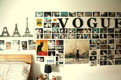 Nice picture wall but you might want to change this often.  So, try mounting it on a board, then some or all of it can change with you