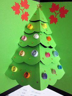 Christmas tree card