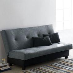 ''Marvin'' Klik Klak Futon with Hidden Storage - Sears Modern Sectional, Sectional Sofa, Twin Sleeper Sofa, Sofa Bed With Storage, Types Of Sofas, Black Sofa, Business Intelligence, Reno, Hidden Storage