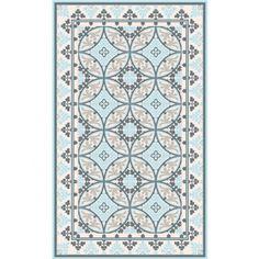 tapis vinyl barcelona light blue white 70 x 180 cm beija flor - Tapis Vinyl Cuisine