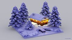 Emotions: Winter Made from Lego bricks