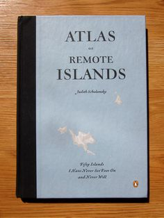 The Atlas of Remote Islands (Fifty Islands I Have Never Set Foot on and Never Will) by Judith Schalansky is one of those books that you can easily spend a day dreamily paging through. Books To Read, My Books, Lost Paradise, Water For Elephants, The Atlas, Design Reference, The Places Youll Go, Mind Blown, Book Worms