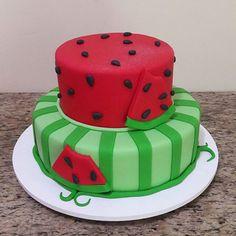A melancia bombou... #cake #saimoncake #melancia #bolosdecorados #cakedesign #sugarart #love ...