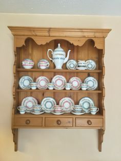 Tea cups in Welsh wall  dresser cups Crown Staffordshire