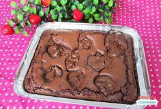 Brownie na marmita recheado com Nutella - Amando Cozinhar - Receitas, dicas de culinária, decoração e muito mais!