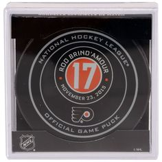 Rod Brind'Amour Philadelphia Flyers Fanatics Authentic Unsigned November 23, 2015 Retirement Night Official Game Puck