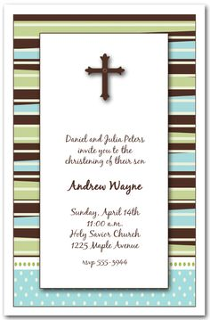 Boys First Communion Invitations, note cards and party favors.  TheInvitationShop.com