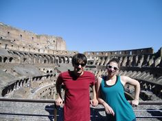 my babies at the Colosseum in Roma