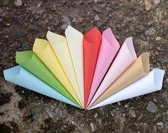 Confetti cones, Petal toss cones, Custom color wedding favor cones, Party paper decor, Bridal shower favor cone, Cheap wedding favor