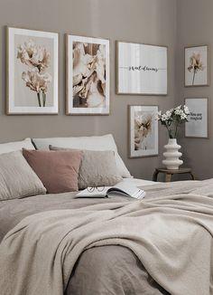 Room Ideas Bedroom, Bedroom Colors, Home Decor Bedroom, Bedroom Wall, Bedroom Prints, Master Bedroom, Gallery Wall Bedroom, Bedroom Posters, Bedroom Modern