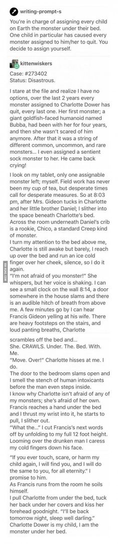 Oh my god. More short stories like that?/// this gave me goosebumps and made me tear up