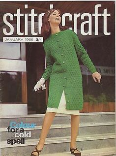 Stitchcraft #january 1966 vintage #sewing magazine 1960s crafts #knitting fashion,  View more on the LINK: http://www.zeppy.io/product/gb/2/201160112250/